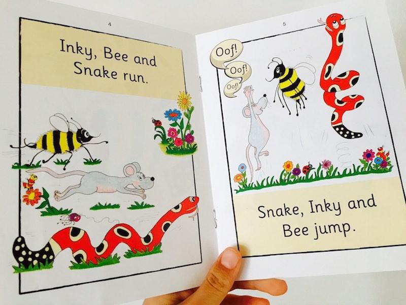 I personaggi della serie Inky Mouse & Friends dei libricini Jolly Phonics.