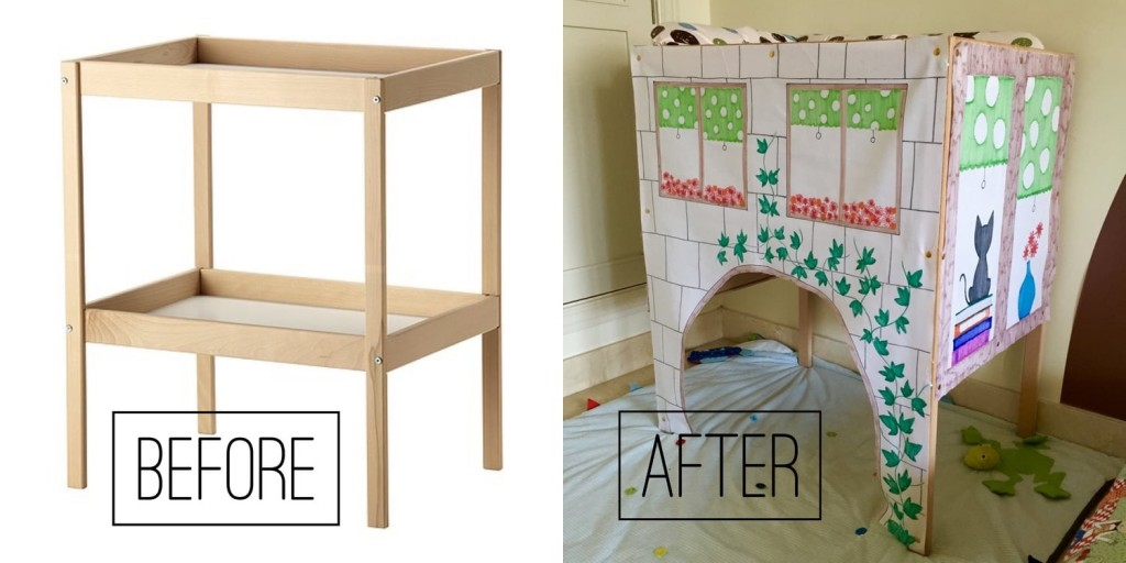 5d5277ffe873e How to convert IKEA Sniglar changing table into a play house - Mums ...