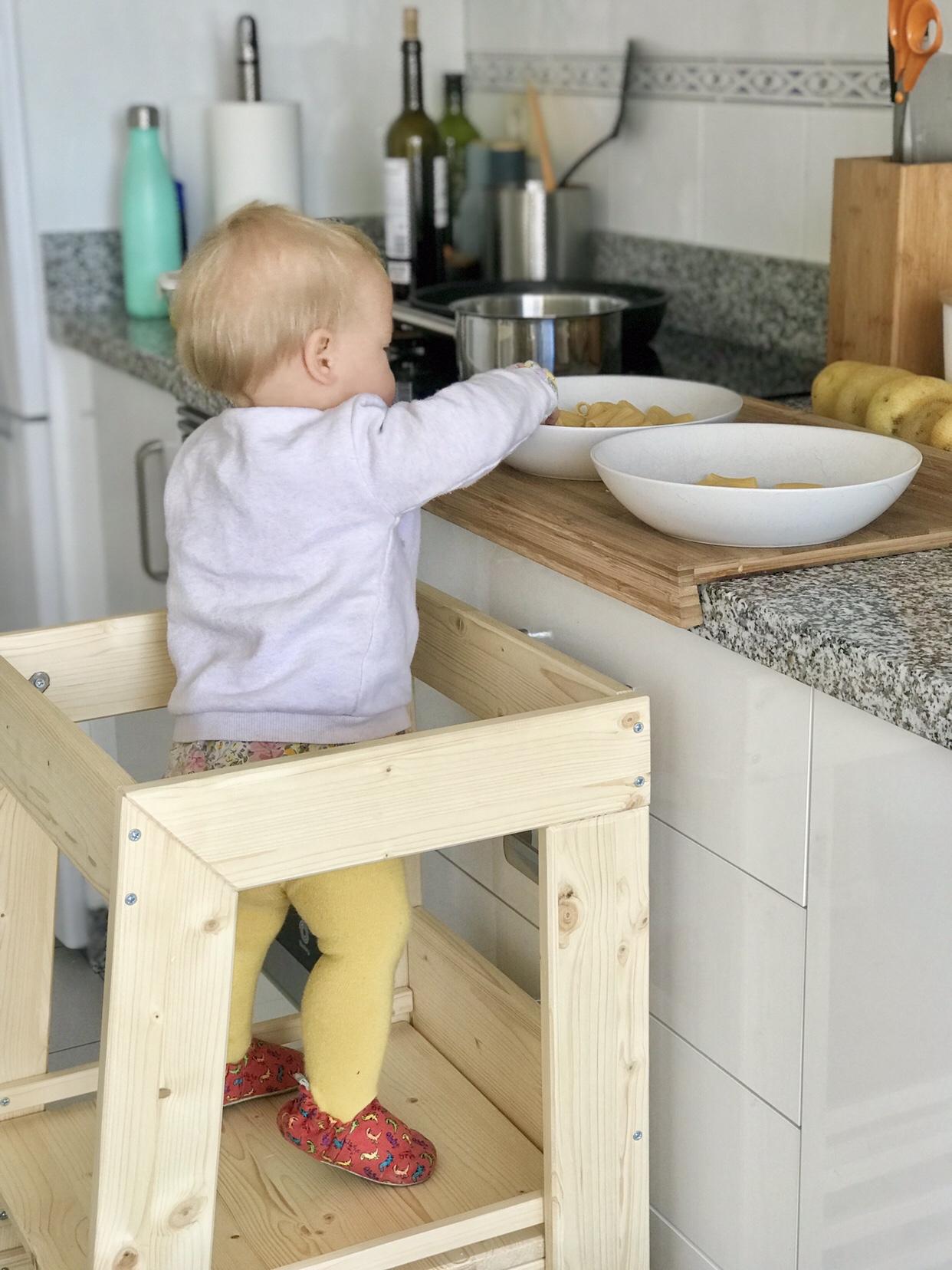 Provando La Torre D Apprendimento Montessori Di Woomo Mamme